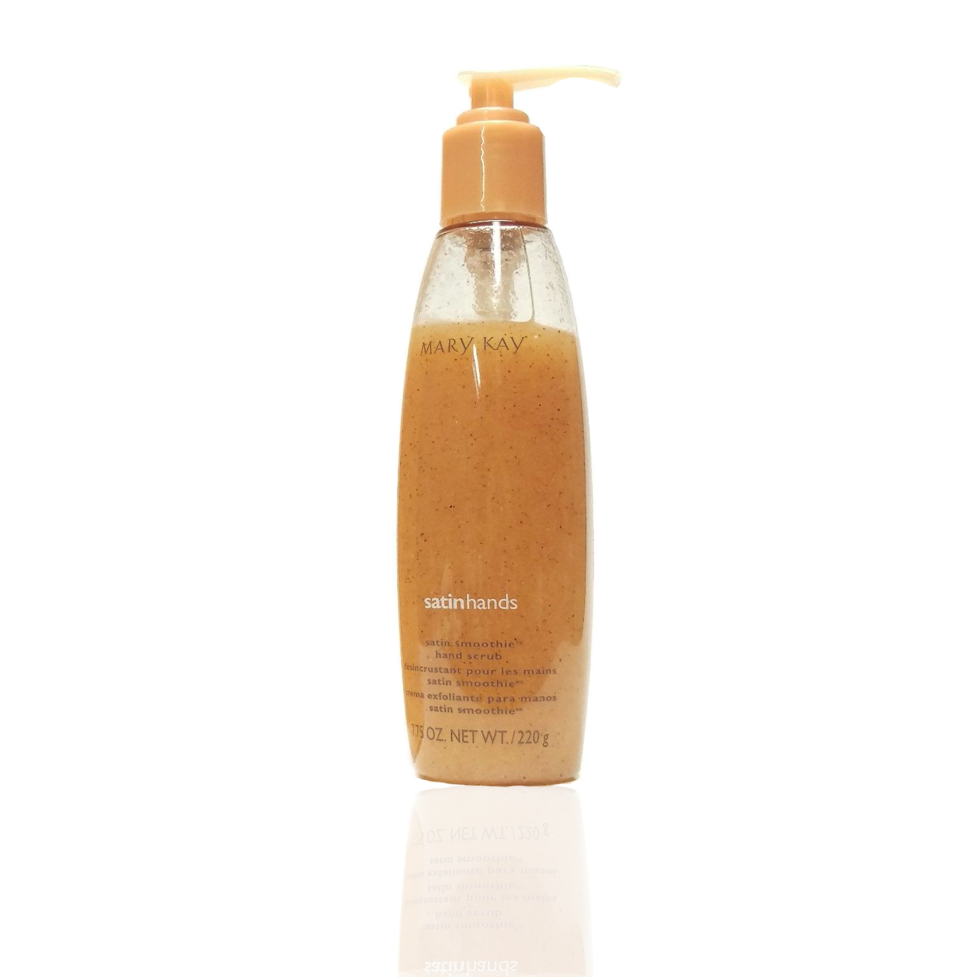 mary kay satin smoothie hand scrub night body gel anti cellulite peach 220g ebay. Black Bedroom Furniture Sets. Home Design Ideas