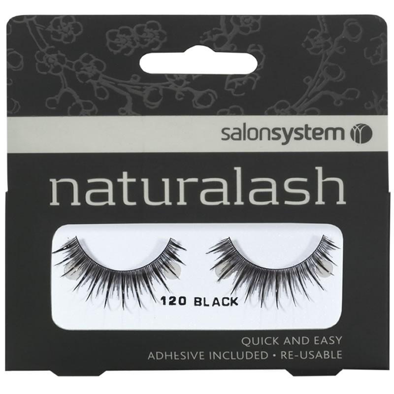 Salon System New Fake Re Usable Black Lashes 120 Eyelashes Natural