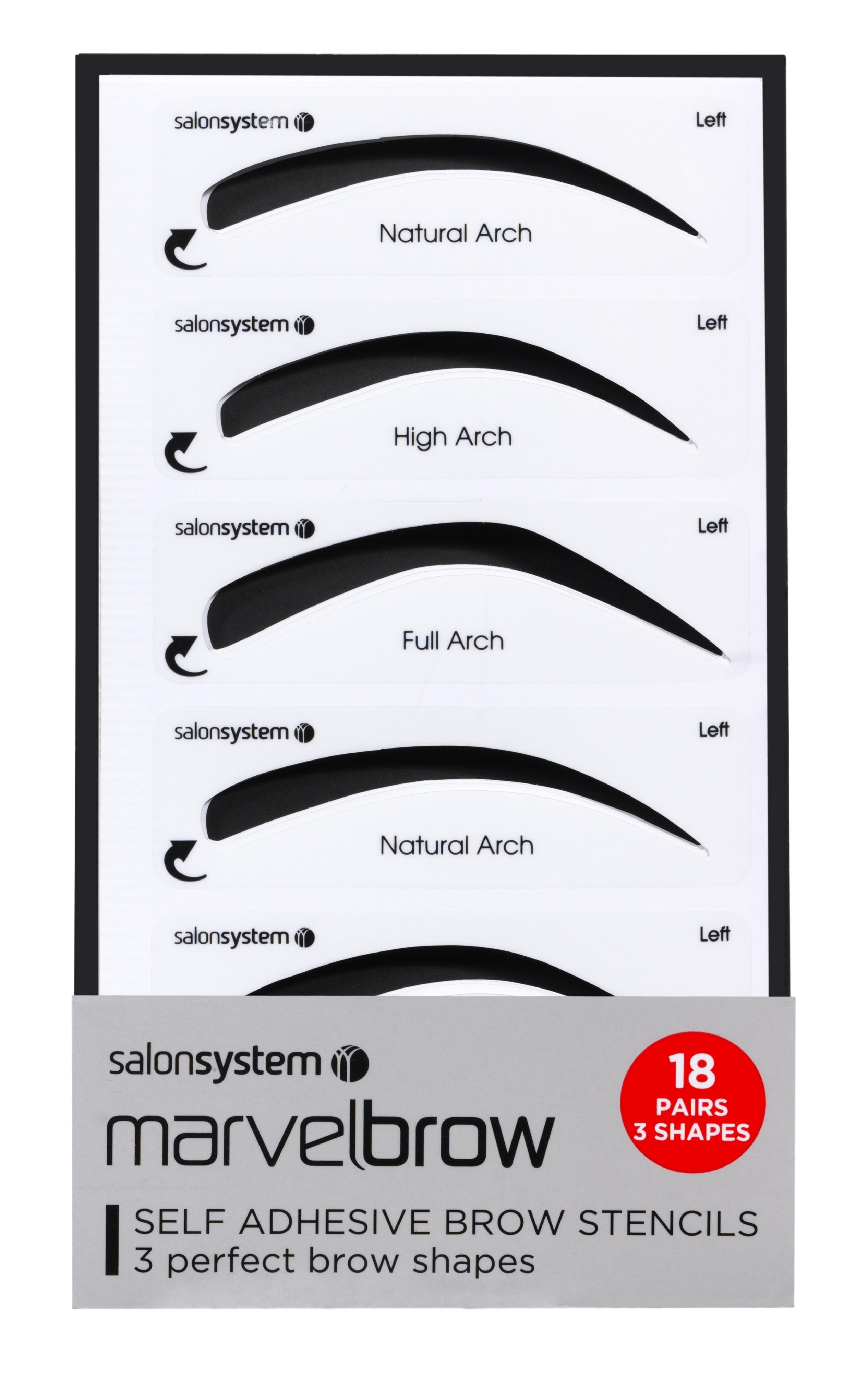 Salon System Marvelbrow Self Adhesive Eyebrow Brow Stencils 18
