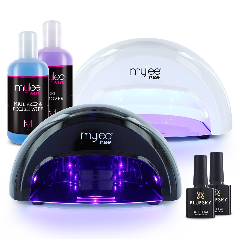 Mylee Convex Led Nail Dryer Manicure Starter Kit Bluesky Gel Top Amp Base Coat Ebay