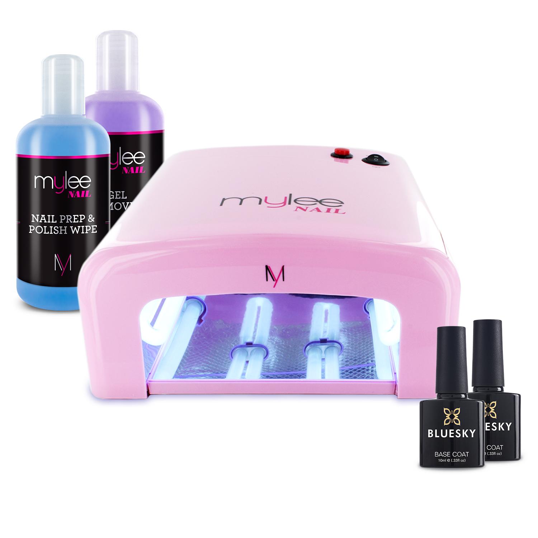 Mylee Manicure Nail Kit UV Lamp 36W Top Base Coat Prep Wipe Remover ...