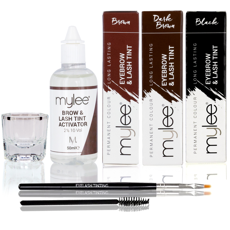 Mylee Eyebrow Eyelash Tint Tinting Dye Kit Brush Dish Eye Lashes