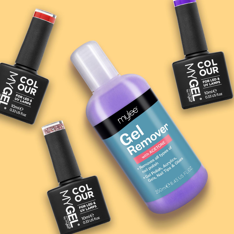 Mylee Gel Polish Remover Acetone UV LED Nail Polish Cleaner Manicure ...