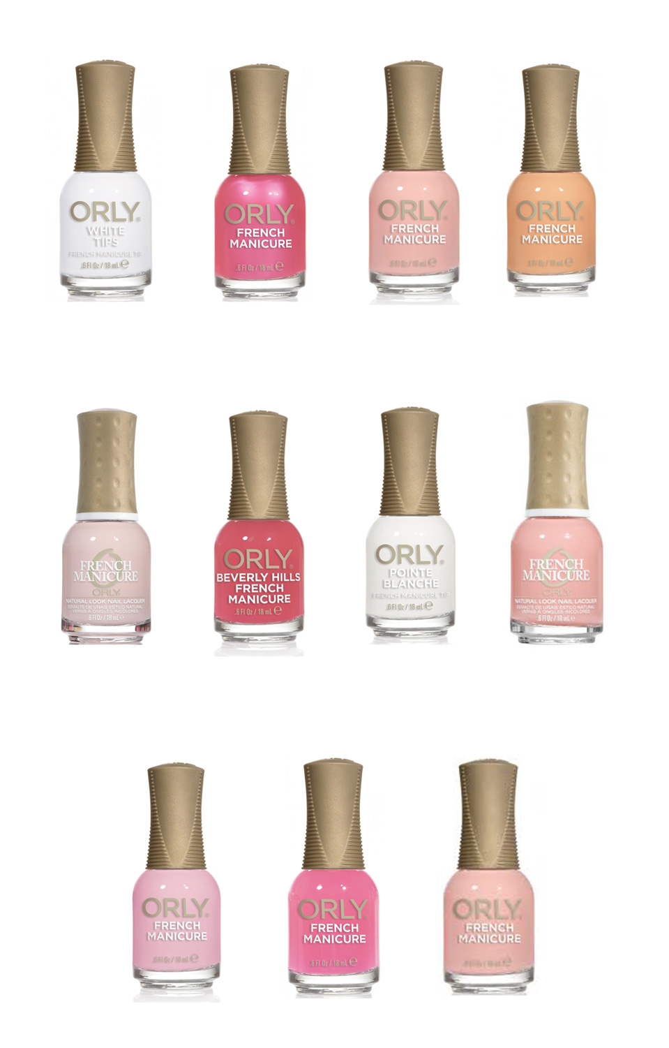 Orly French Manicure Long Lasting Nail Polish Lacquer Collection ...