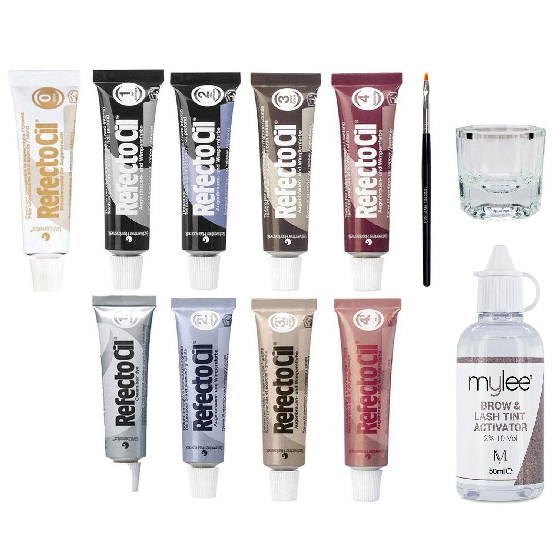 Refectocil Eyelash Tint Eyebrow Tinting Dye Kit Brush Dish ...